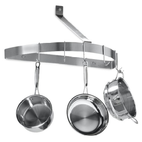 Hang pots and pans from the ceiling.