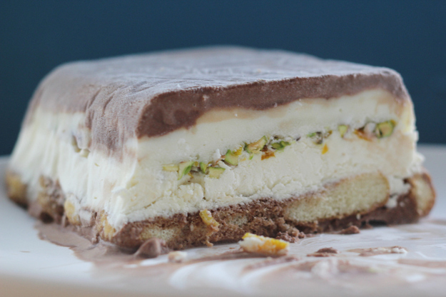Cassata (traditional Argentinian ice cream cake)