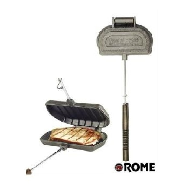Make sandwiches with this campfire panini press.