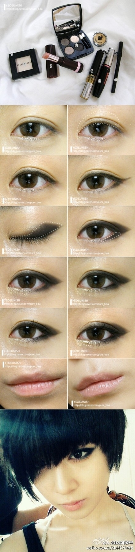 medium resolution of apply black eyeshadow in a whale shape to create this winged smoky eye look