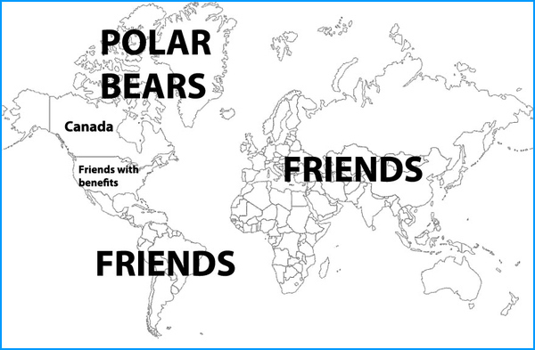 How Canada Sees the Rest of the World [PIC]