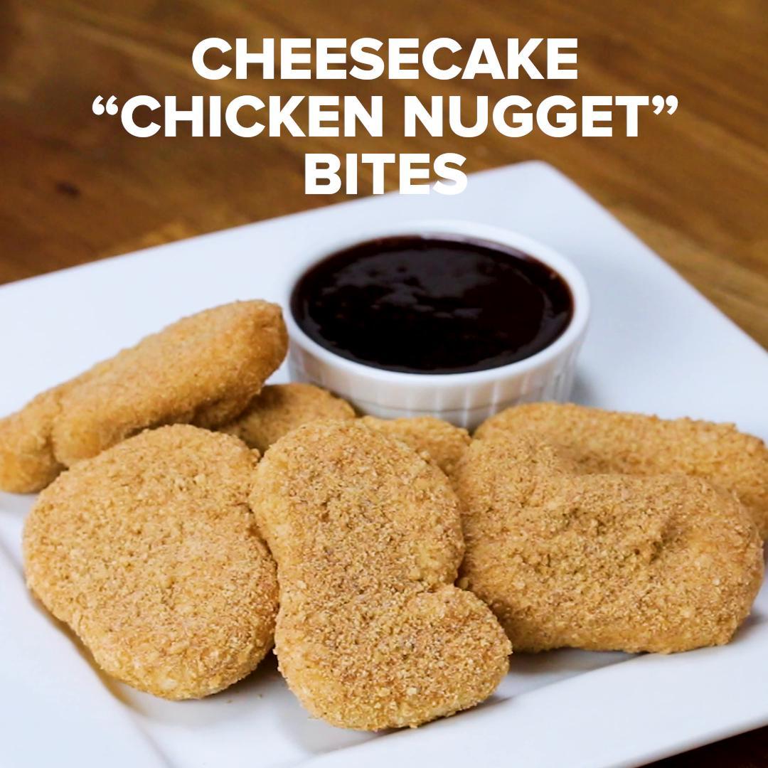 cheesecake chicken nugget bites