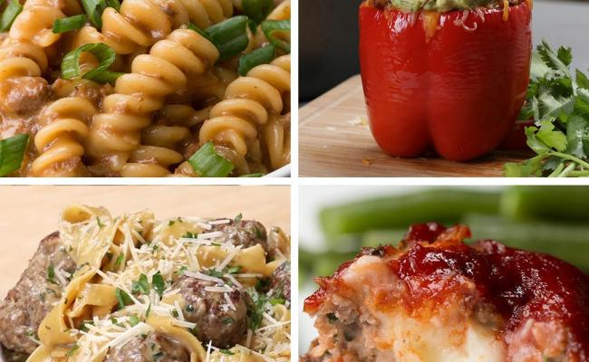1 Lb Ground Beef 4 Easy Dinners Recipes