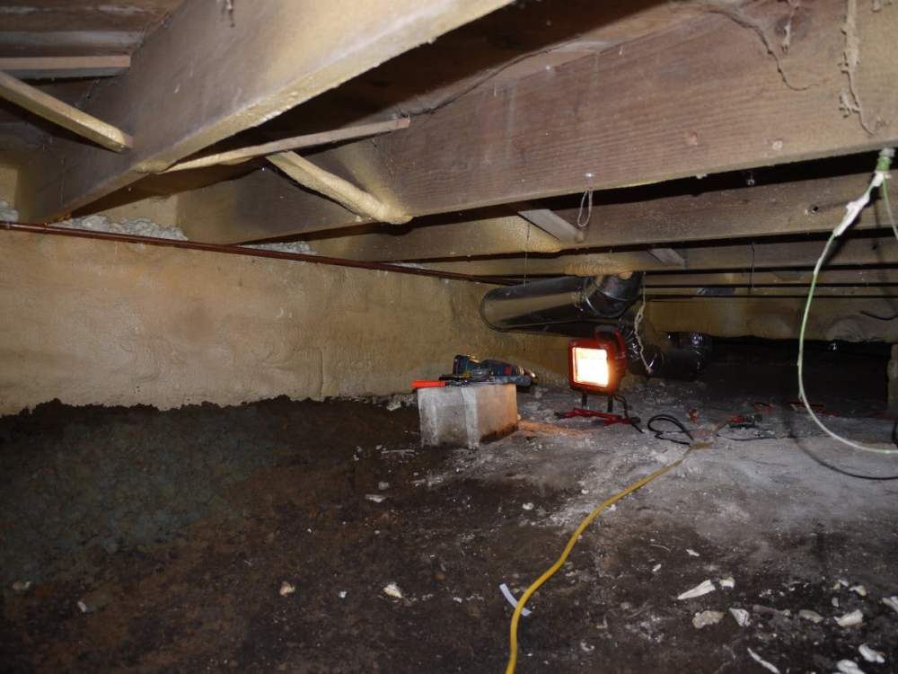 medium resolution of target the lowest point in crawl space for sump basin location