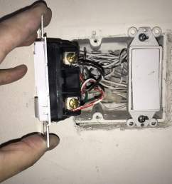 wiring motion sensor light switch unscrew and pull out existing light switch to expose wire connections [ 2048 x 1536 Pixel ]