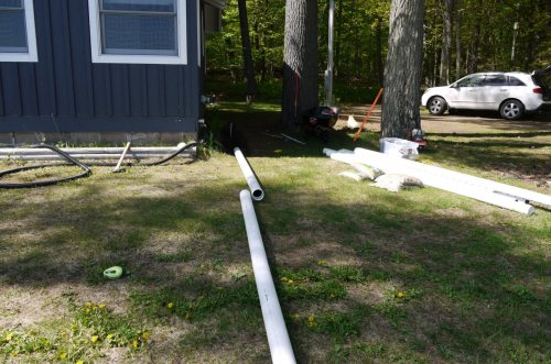 small resolution of planning discharge pipe layout for french drain