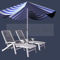 Outdoor Beach Chairs Kids Wooden Table And Chair Set Umbrella 3d Model 3ds Max Files Free