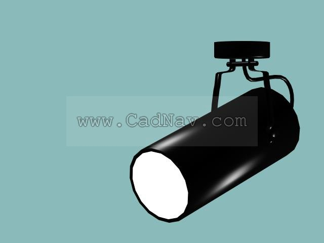 kitchen track lighting fixtures aids for disabled cylindrical spotlight 3d model 3ds max files free download ...