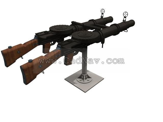 metal wall tiles for kitchen aid classic mixer lewis machine gun 3d model 3ds max files free download ...