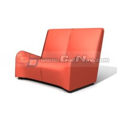 Red Leather Two Seater Sofa 2 Beds Dfs Wittmann Love Seat 3d Model 3ds Max Files Free Download ...