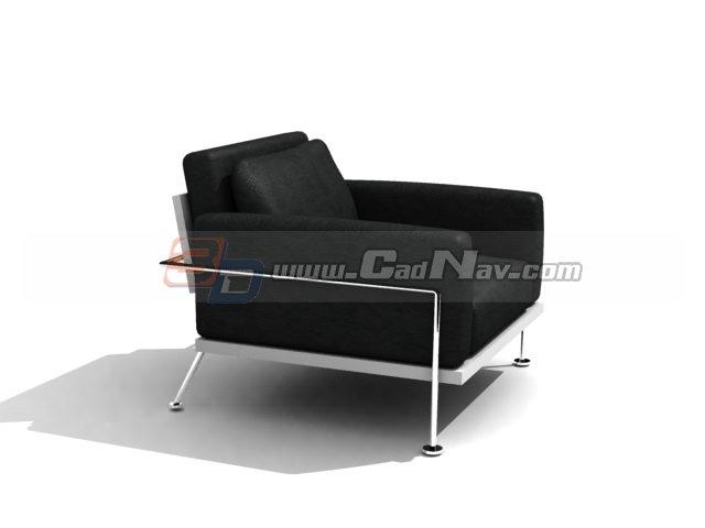 Blue Accent Chair Ottoman