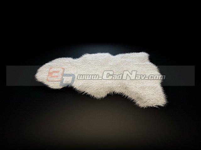 Sheepskin leather rug 3d model 3DMax files free download