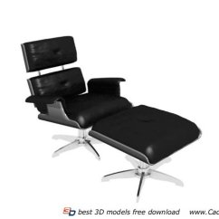 Office Lounge Chair And Ottoman Small Wooden Chairs 3d Model 3dmax Files Free Download