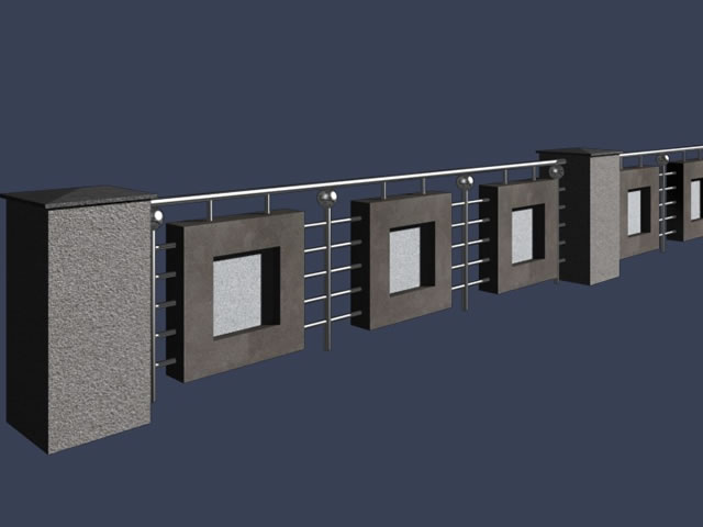 Factory Gate Building 3d Model 3dsmax Files Free Download