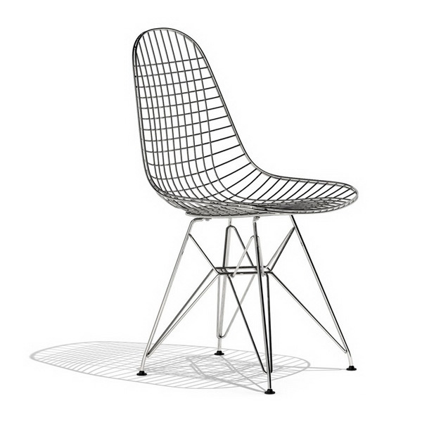 Ray Eames DKR wire dining chair 3d model 3dsmax files free