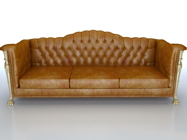 sofa classic cheap bed loveseat leather couch 3d model 3dsmax files free download