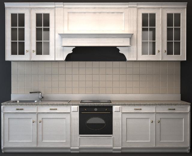 Classic Wood Kitchen Cabinet 3d Model 3dsmax 3DS Wavefront Files