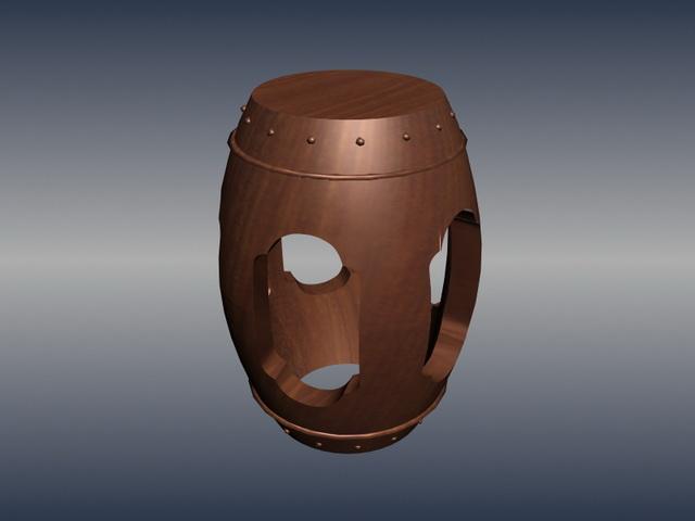Antique Decorative Drum Stool 3d Model 3dsmax Files Free