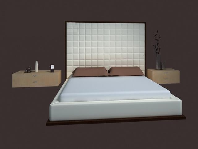 Bed Design Furniture Modern Bed 3d Model 3dsmax Files Free