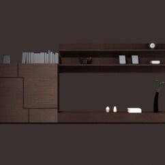 Shelf Units Living Room Dark Brown Cabinet Wall 3d Model 3dsmax Files Free ...