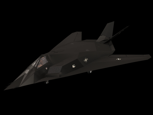 F117 Nighthawk stealth attack aircraft 3d model 3dsmax files free download  modeling 10551 on
