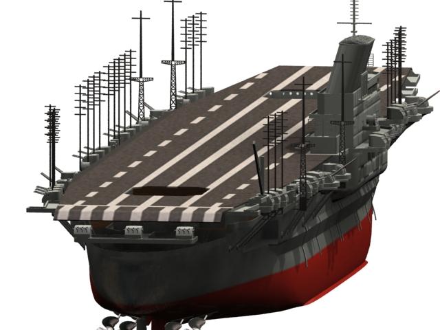 Shinano Aircraft Carrier 3d Model 3dsmax Files Free
