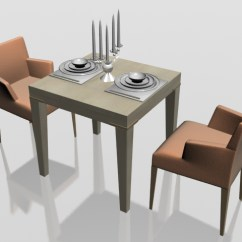2 Seater Kitchen Table Set Bar Height Two Dining 3d Model 3dsmax Files Free Download Modeling This Available In And Vray Highly Detailed Models Of Room Furniture Consist Small