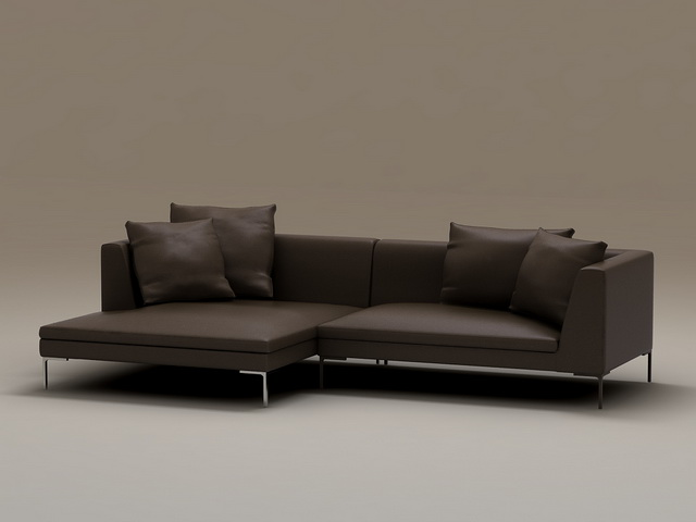 black paint for leather sofa sectional sleeper fabric set 3d model 3dsmax files free download ...