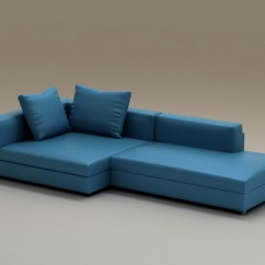 Red Modern Sectional Sofa New Cushion Covers For Blue Combination Corner 3d Model 3dsmax Files Free ...