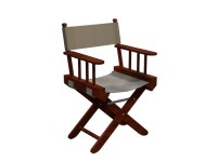 Canvas director chair 3d model 3dsMax files free download ...