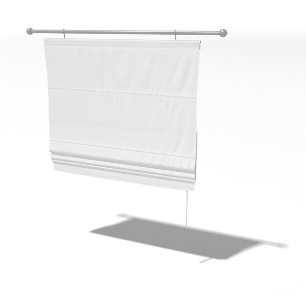 Fabric Drop Down Curtain 3d Model 3dsMax 3ds Files Free Download