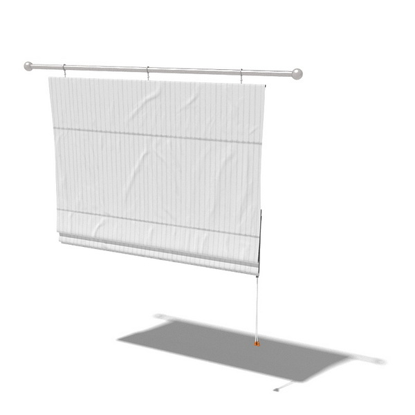 Drop Down Curtain 3d Model 3dsMax 3ds Files Free Download