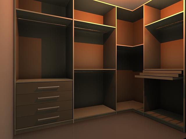 Wardrobe wall unit 3d model 3dsMax files free download