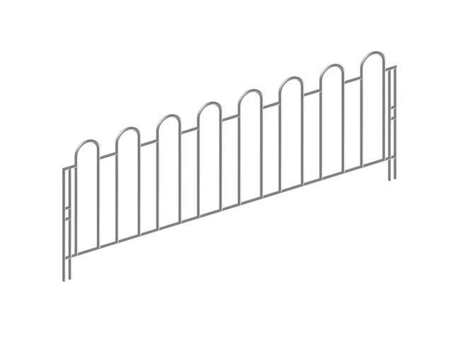 Metal safety barrier 3d model 3dsMax files free download