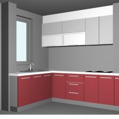 Kitchen Planning Tools Damascus Knife L-shaped Pink Design 3d Model 3dsmax Files Free ...
