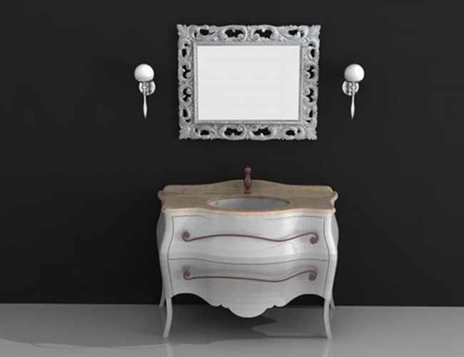 concrete kitchen sink decoration classic vanity cabinet 3d model 3dsmax,3ds,autocad files ...