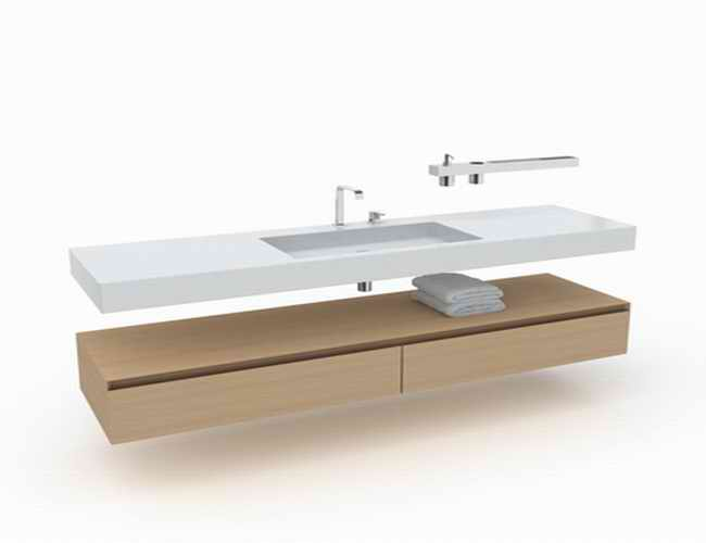 long vanity with one sink 3d model 3dsmax files free download