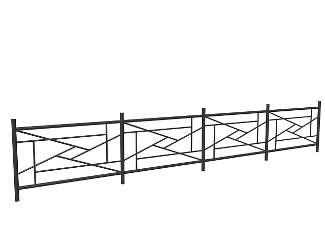 Black designed railing 3d model 3dsMax,3ds files free