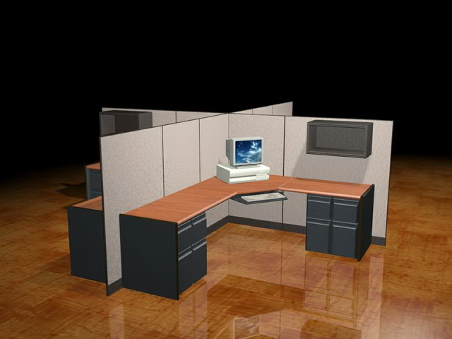 4cubicle office workstation 3d model 3dsMax files free