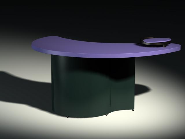 Crescent moon shape reception desk 3d model 3dsMax files