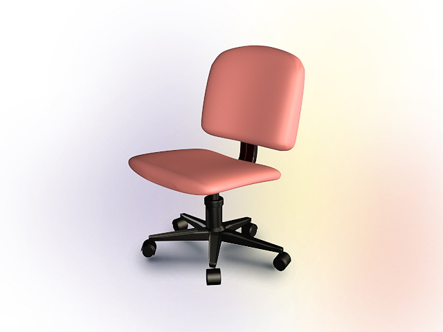 pink swivel chair wishbone chairs office 3d model 3dsmax autocad files free download