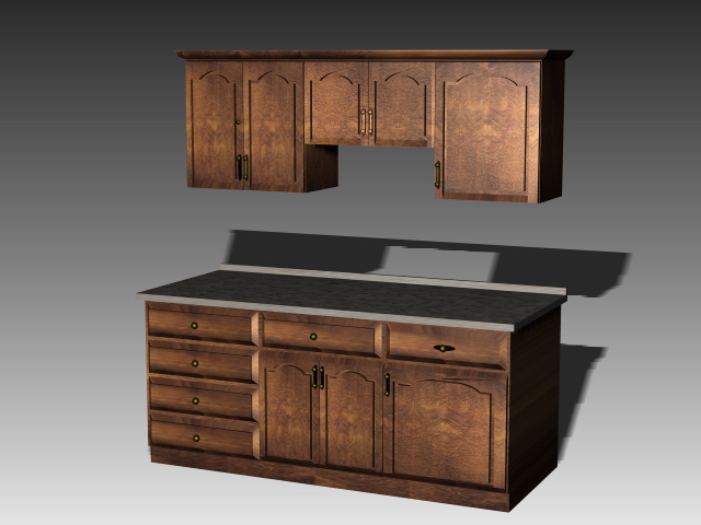 Antique kitchen cabinets 3d model 3dsMax3dsAutoCAD files