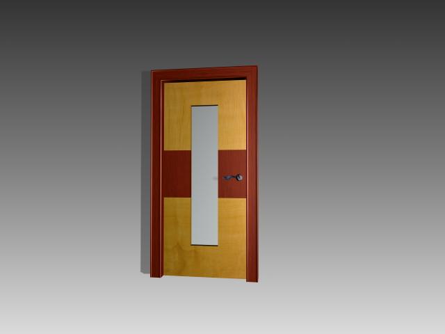 classroom door with window d model