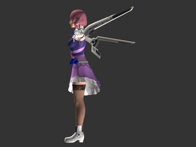 Animated Girl Wallpaper Free Download Tekken Character Alisa Bosconovitch 3d Model 3dsmax Files