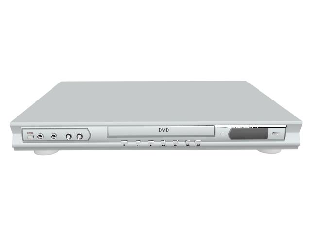 white dvd player 3d