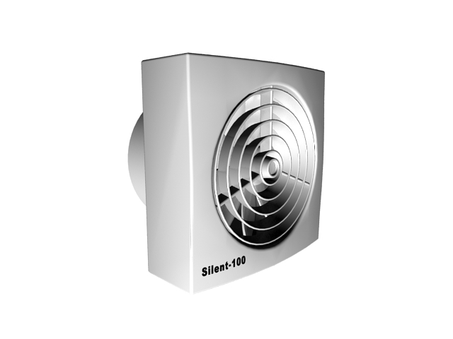 exhaust fans for kitchen round table set square fan 3d model 3ds max files free download ...