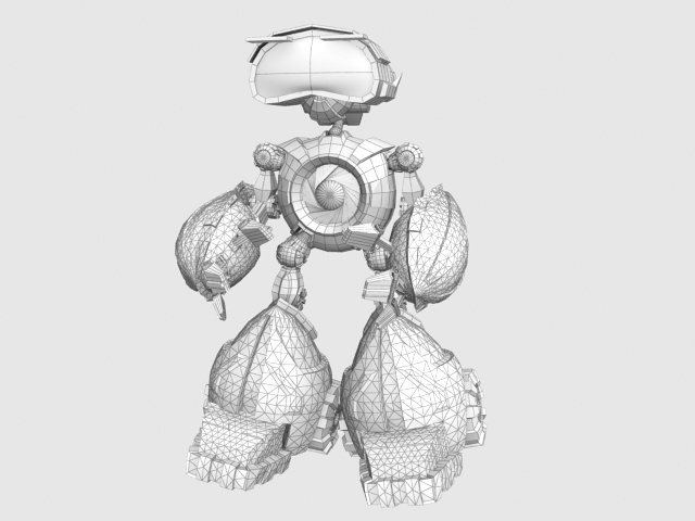 Little robot 3d model 3D Studio,3ds max files free