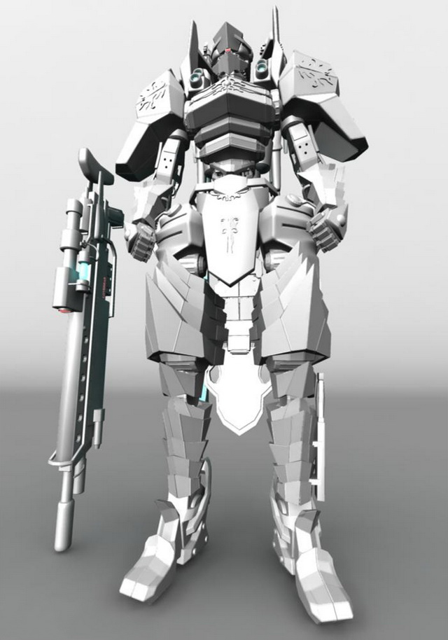 Humanoid Mecha For Video Game 3d Model Maya Files Free Download Modeling 22008 On CadNav