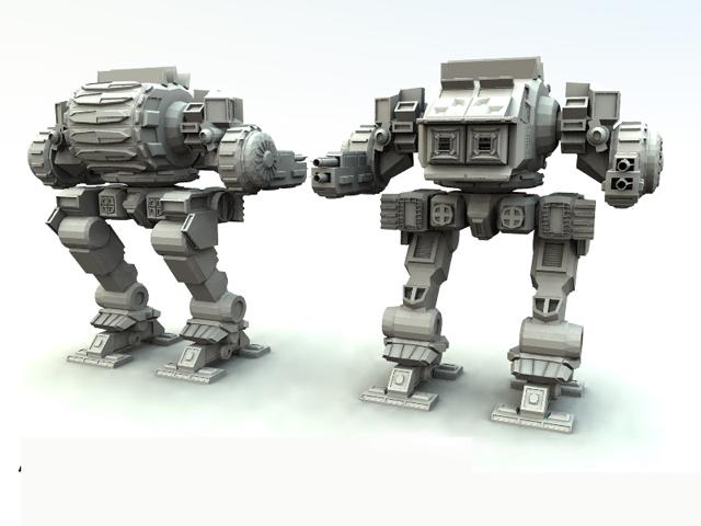 battletech assault mech 3d