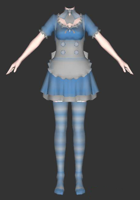 Cute Maidservant Clothing 3d Model 3ds MaxCollada Files Free Download Modeling 22829 On CadNav